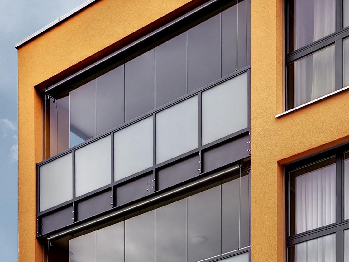 Un vitrage pour protéger un balcon